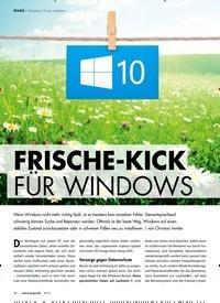 Titelbild der Ausgabe 6/2019 von Windows 10 neu installieren: FRISCHE-KICK FÜR WINDOWS. Zeitschriften als Abo oder epaper bei United Kiosk online kaufen.