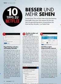 Titelbild der Ausgabe 6/2019 von Zehn Tipps zu Netflix: BESSER UND MEHR SEHEN. Zeitschriften als Abo oder epaper bei United Kiosk online kaufen.