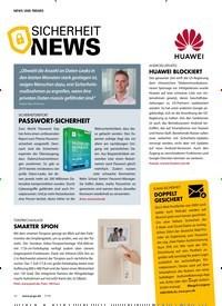 Titelbild der Ausgabe 7/2019 von SICHERHEIT NEWS. Zeitschriften als Abo oder epaper bei United Kiosk online kaufen.