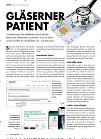 Titelbild der Ausgabe 7/2019 von REPORT: Elektronische Patientenakte: GLÄSERNER PATIENT. Zeitschriften als Abo oder epaper bei United Kiosk online kaufen.