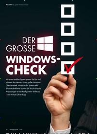 Titelbild der Ausgabe 7/2019 von Der große Windows-Check: DER GROSSE: WINDOWS- CHECK. Zeitschriften als Abo oder epaper bei United Kiosk online kaufen.
