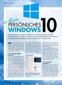 Titelbild der Ausgabe 7/2019 von Windows-Designer: Mein persönliches Windows 10. Zeitschriften als Abo oder epaper bei United Kiosk online kaufen.