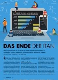 Titelbild der Ausgabe 9/2019 von Neue Regeln beim Online-Banking: Das Ende der iTAN. Zeitschriften als Abo oder epaper bei United Kiosk online kaufen.