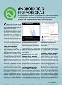 Titelbild der Ausgabe 9/2019 von Android 10 Q. Zeitschriften als Abo oder epaper bei United Kiosk online kaufen.
