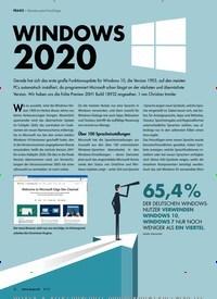 Titelbild der Ausgabe 9/2019 von Windows 2020. Zeitschriften als Abo oder epaper bei United Kiosk online kaufen.