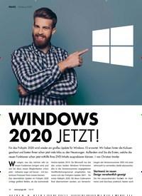 Titelbild der Ausgabe 10/2019 von WINDOWS 2020 JETZT!. Zeitschriften als Abo oder epaper bei United Kiosk online kaufen.