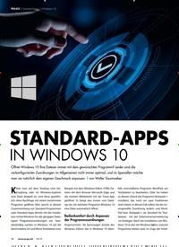 Titelbild der Ausgabe 10/2019 von STANDARD-APPS IN WINDOWS 10. Zeitschriften als Abo oder epaper bei United Kiosk online kaufen.