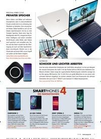 Titelbild der Ausgabe 11/2019 von 4: SMARTPHONES: DIE FANTASTISCHEN. Zeitschriften als Abo oder epaper bei United Kiosk online kaufen.