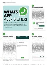 Titelbild der Ausgabe 12/2019 von WhatsApp-Sicherheitseinstellungen: WHATS APP ABER SICHER!. Zeitschriften als Abo oder epaper bei United Kiosk online kaufen.
