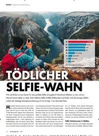 Titelbild der Ausgabe 3/2020 von REPORT ? Gefährlicher Selfie-Wahnsinn: TÖDLICHER SELFIE-WAHN. Zeitschriften als Abo oder epaper bei United Kiosk online kaufen.