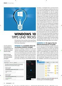 Titelbild der Ausgabe 3/2020 von Windows-Tipps: WINDOWS 10 TIPPS UND TRICKS. Zeitschriften als Abo oder epaper bei United Kiosk online kaufen.