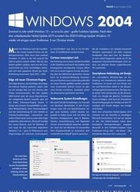 Titelbild der Ausgabe 4/2020 von April-Update 2020: Windows 2004. Zeitschriften als Abo oder epaper bei United Kiosk online kaufen.