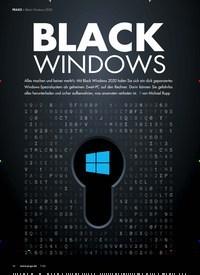 Titelbild der Ausgabe 7/2020 von Black Windows 2020: BLACK WINDOWS. Zeitschriften als Abo oder epaper bei United Kiosk online kaufen.