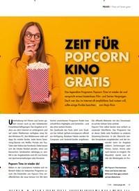 Titelbild der Ausgabe 7/2020 von Filme und Serien gratis: ZEIT FÜR POPCORN KINO GRATIS. Zeitschriften als Abo oder epaper bei United Kiosk online kaufen.