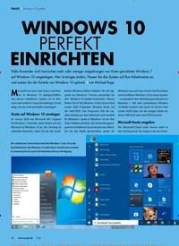 Titelbild der Ausgabe 7/2020 von WINDOWS 10 PERFEKT EINRICHTEN. Zeitschriften als Abo oder epaper bei United Kiosk online kaufen.