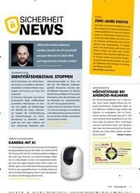 Titelbild der Ausgabe 8/2020 von SICHERHEIT NEWS. Zeitschriften als Abo oder epaper bei United Kiosk online kaufen.