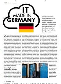 Titelbild der Ausgabe 8/2020 von REPORT: IT MADE IN GERMANY. Zeitschriften als Abo oder epaper bei United Kiosk online kaufen.