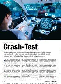 Titelbild der Ausgabe 7/2018 von AUTONOMES FAHREN: Crash-Test. Zeitschriften als Abo oder epaper bei United Kiosk online kaufen.