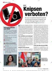 Titelbild der Ausgabe 12/2018 von RECHT: Knipsen verboten?. Zeitschriften als Abo oder epaper bei United Kiosk online kaufen.