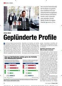 Titelbild der Ausgabe 4/2020 von SOCIAL MEDIA: Geplünderte Profile. Zeitschriften als Abo oder epaper bei United Kiosk online kaufen.