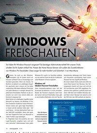 Titelbild der Ausgabe 6/2018 von DVD Software/Tool-Pakete/Windows freischalten: WINDOWS FREISCHALTEN. Zeitschriften als Abo oder epaper bei United Kiosk online kaufen.