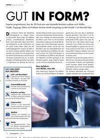 Titelbild der Ausgabe 10/2018 von REPORT › Zukunft: 3D-Druck: GUT IN FORM?. Zeitschriften als Abo oder epaper bei United Kiosk online kaufen.