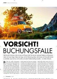 Titelbild der Ausgabe 12/2019 von REPORT: Fallen bei der Reisebuchung: VORSICHT!: BUCHUNGSFALLE. Zeitschriften als Abo oder epaper bei United Kiosk online kaufen.