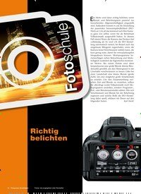 Titelbild der Ausgabe 1/2019 von Fotoschule: Richtig belichten. Zeitschriften als Abo oder epaper bei United Kiosk online kaufen.