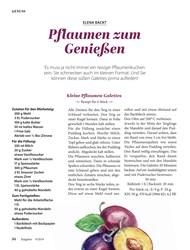 Titelbild der Ausgabe 9/2019 von ELENA BACKT: Pflaumen zum Genießen. Zeitschriften als Abo oder epaper bei United Kiosk online kaufen.
