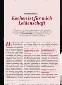 Titelbild der Ausgabe 3/2020 von RATGEBER INTERVIEWT: Kochen ist für mich Leidenschaft. Zeitschriften als Abo oder epaper bei United Kiosk online kaufen.