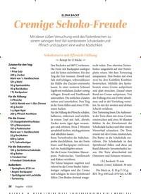 Titelbild der Ausgabe 4/2020 von ELENA BACKT: Cremige Schoko-Freude. Zeitschriften als Abo oder epaper bei United Kiosk online kaufen.
