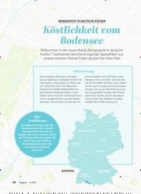 Titelbild der Ausgabe 6/2020 von REINGESPICKT IN DEUTSCHE KÜCHEN: Köstlichkeit vom Bodensee. Zeitschriften als Abo oder epaper bei United Kiosk online kaufen.