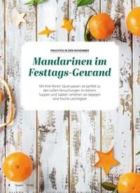 Titelbild der Ausgabe 11/2020 von FRUCHTIG IN DEN NOVEMBER: Mandarinen im Festtags-Gewand. Zeitschriften als Abo oder epaper bei United Kiosk online kaufen.