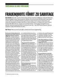 Titelbild der Ausgabe 8/2018 von VERTEIDIGEN SIE IHRE FORSCHUNG: FRAUENQUOTE FÜHRT ZU SABOTAGE. Zeitschriften als Abo oder epaper bei United Kiosk online kaufen.