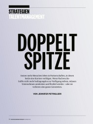 Titelbild der Ausgabe 11/2018 von STRATEGIEN TALENTMANAGEMENT: DOPPELT SPITZE. Zeitschriften als Abo oder epaper bei United Kiosk online kaufen.