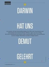 """Titelbild der Ausgabe 3/2019 von INTERVIEW """"DARWIN HAT UNS DEMUT GELEHRT"""":. Zeitschriften als Abo oder epaper bei United Kiosk online kaufen."""