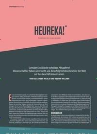 Titelbild der Ausgabe 3/2019 von INNOVATION: HEUREKA! * *ALTGRIECHISCH FÜR: ICH HAB'S GEFUNDEN!. Zeitschriften als Abo oder epaper bei United Kiosk online kaufen.