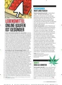 Titelbild der Ausgabe 6/2019 von LEBENSMITTEL: ONLINE KAUFEN IST GESÜNDER. Zeitschriften als Abo oder epaper bei United Kiosk online kaufen.