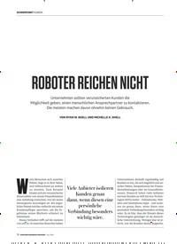 Titelbild der Ausgabe 7/2019 von ROBOTER REICHEN NICHT. Zeitschriften als Abo oder epaper bei United Kiosk online kaufen.