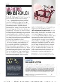 Titelbild der Ausgabe 1/2020 von MARKETING: PINK IST PEINLICH. Zeitschriften als Abo oder epaper bei United Kiosk online kaufen.