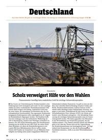 Titelbild der Ausgabe 34/2019 von Braunkohle: Scholz verweigert Hilfe vor den Wahlen. Zeitschriften als Abo oder epaper bei United Kiosk online kaufen.
