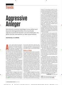 Titelbild der Ausgabe 8/2019 von Aggressive Anleger. Zeitschriften als Abo oder epaper bei United Kiosk online kaufen.