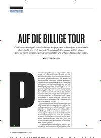Titelbild der Ausgabe 8/2019 von Kommentar: AUF DIE BILLIGE TOUR. Zeitschriften als Abo oder epaper bei United Kiosk online kaufen.