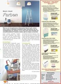 Titelbild der Ausgabe 5/2019 von Mensch + Umwelt: Farben. Zeitschriften als Abo oder epaper bei United Kiosk online kaufen.