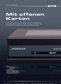 Titelbild der Ausgabe 5/2019 von Test: Streamer Meridian 210: Streamer: Mit offenen Karten. Zeitschriften als Abo oder epaper bei United Kiosk online kaufen.