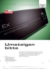 Titelbild der Ausgabe 1/2020 von Test: Musikserver Antipodes EX: Umsteigen bitte. Zeitschriften als Abo oder epaper bei United Kiosk online kaufen.
