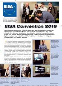 Titelbild der Ausgabe 8/2019 von EISA Convention 2019. Zeitschriften als Abo oder epaper bei United Kiosk online kaufen.