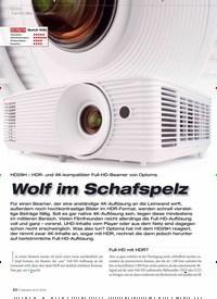 Titelbild der Ausgabe 9/2019 von HD29H – HDR- und 4K-kompatibler Full-HD-Beamer von Optoma: Wolf im Schafspelz. Zeitschriften als Abo oder epaper bei United Kiosk online kaufen.