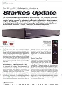 Titelbild der Ausgabe 9/2019 von Starkes Update: Sony UBP-X800M2 – volle Dolby-Vision-Unterstützung. Zeitschriften als Abo oder epaper bei United Kiosk online kaufen.