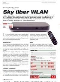 Titelbild der Ausgabe 1/2020 von Bild · Streamingbox: Sky über WLAN. Zeitschriften als Abo oder epaper bei United Kiosk online kaufen.